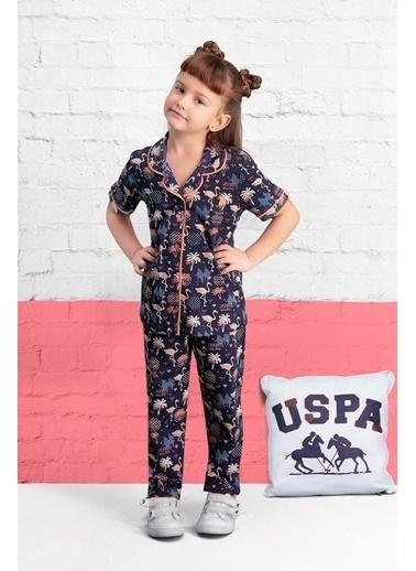U.S. Polo Assn. U.S. Polo Assn Lisanslı Lacivert Kız Çocuk Pijama Takımı Lacivert
